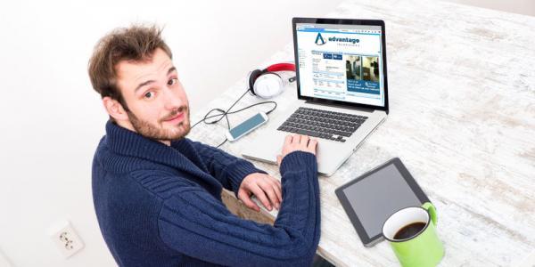 Man using Customer Portal