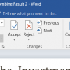 Microsoft Word Changes